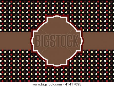 Ornate frame with polka dot background