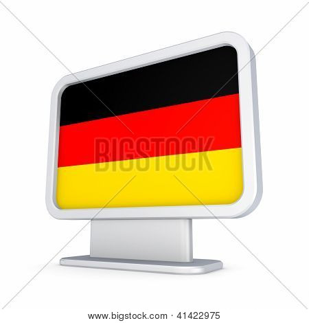 Lightbox with German flag.