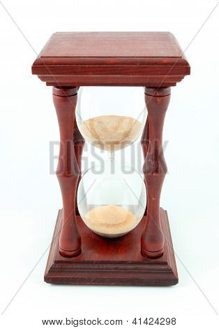 Hourglass, Sandglass, Sand Timer, Sand Clock Isolated On The White Background