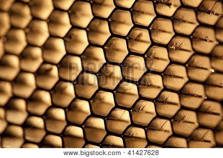 steel honeycomb grid texture