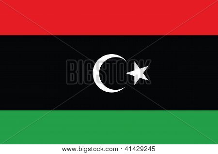 Illustrated Drawing of the flag of Libya