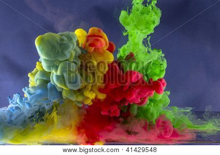 Abstraction from the movement of non-ferrous liquid drops