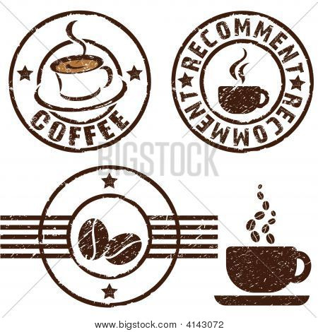 Coffee Rubber Stamps