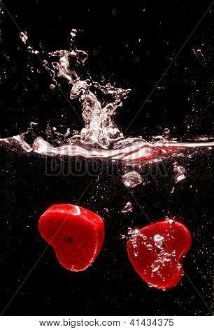 Valentine Hearts Make A Splash