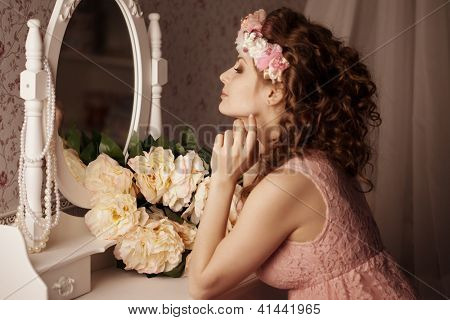 Luxury woman in the boudoir