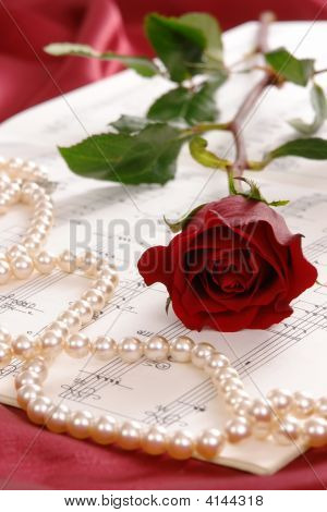 Red Rose And Pearls