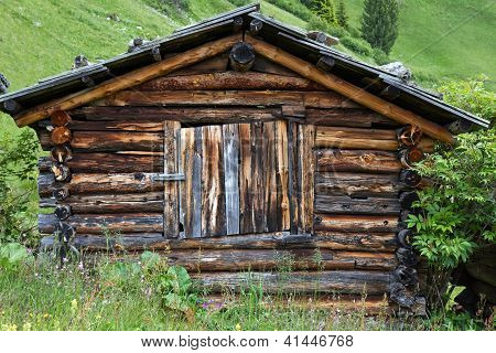 Small mountain hut in South Tyrol, Italy