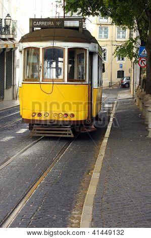 Famous Tram 28, Lisbon, Portugal