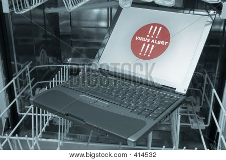 Notebook In Dishwasher 3/4- Virus Alert