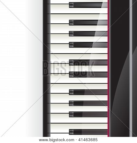 Piano Keys Background With Space For Text