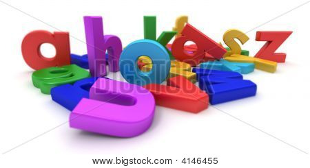 Plastic Colourful Letters