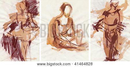 ballet, sketch art, collection