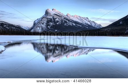 Mount Rundle And Vermillion Lakes