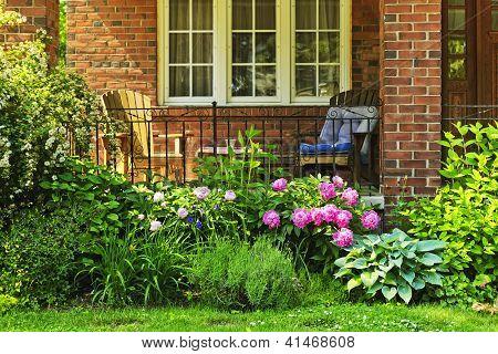 Garden In Front Of House