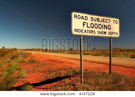 Sign Road Subject To Flooding