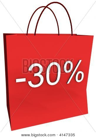 30 Percent Off Shopping Bag