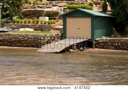 Boatshed And Ramp On The Water