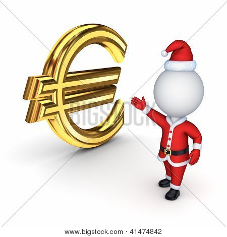 Santa with a symbol of dollar.
