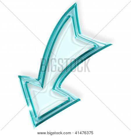 arrow facing downwards