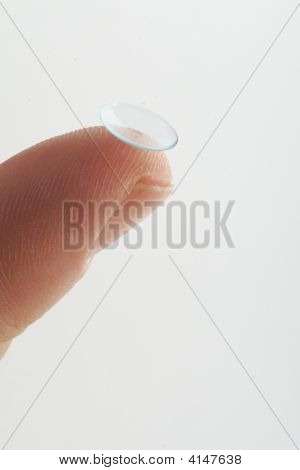 Contact Lense On Finger