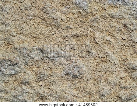 Weathered White Tuff Stone From A Cathedral