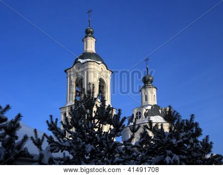 Ortodoxal Church Over  The Blue Sky