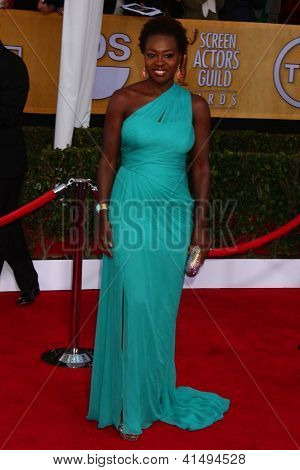 LOS ANGELES - JAN 27:  Viola Davis arrives at the 2013 Screen Actor's Guild Awards at the Shrine Auditorium on January 27, 2013 in Los Angeles, CA