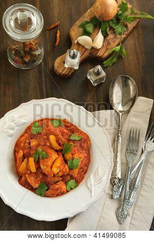 Indian Chicken Jalfrezi
