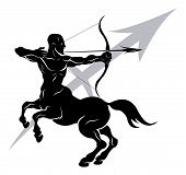 stock photo of centaur  - Illustration of Sagittarius the archer or centaur zodiac horoscope astrology sign - JPG