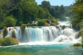 pic of yugoslavia  - Waterfalls in Krka National Park in Croatia - JPG