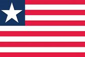 Illustrated Drawing of the flag of Liberia