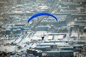 picture of sakhalin  - Sakhalin paragliding city view Yuzhno - JPG