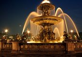 Fountain, Place de la Concorde, Paris, France.
