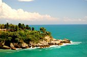 image of yugoslavia  - Cliff in Ulcinj in the south of Montenegro - JPG