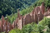 Earth Pyramids of Renon in South Tyrol, Italy