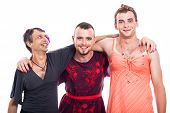 stock photo of transvestites  - Happy transvestites cross - JPG