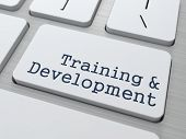 Training & Development - Button on Keyboard.