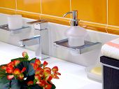 image of lavabo  - Interior of bathroom  - JPG