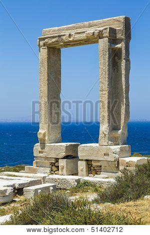Apollo Temple, Landmark Of Naxos, Greece