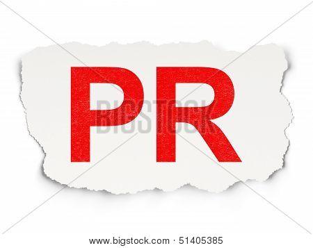 Advertising concept: PR