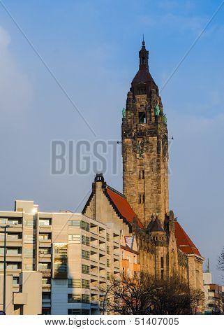 Typical Berlin Landscape: Old Charlottenburg-wilmersdorf Rathaus In City Center