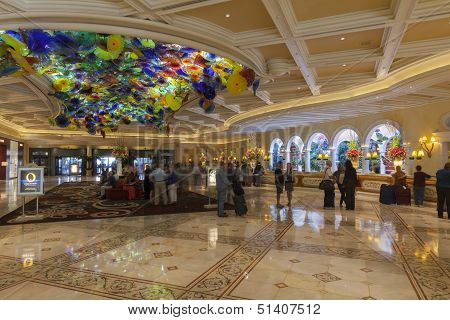 Bellagio Hotel Lobby In Las Vegas, Nv On March 13, 2013