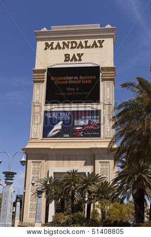 Mandalay Bay Sign In Las Vegas, Nv On April 19, 2013