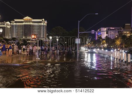 Tourists Cope With Flooding In Las Vegas, Nv On July 19, 2013