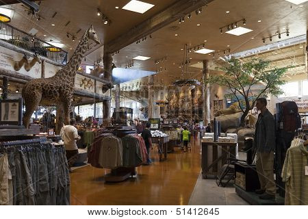 Bass Pro Shop Interior At The Silverton Hotel In Las Vegas, Nv On August 20, 2013
