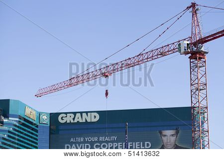 Mgm Grand Hotel Entrance Remodel In Las Vegas, October 20, 2012.