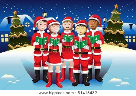 Children Singing In Christmas Choir