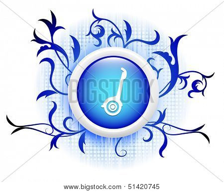 segway icon on blue decorative button
