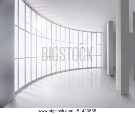 Glass wall. Vector illustration.