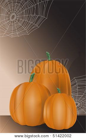 Pumpkins and Spider Webs